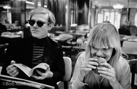 Andy Warhol has lunch with Bibbe Hansen