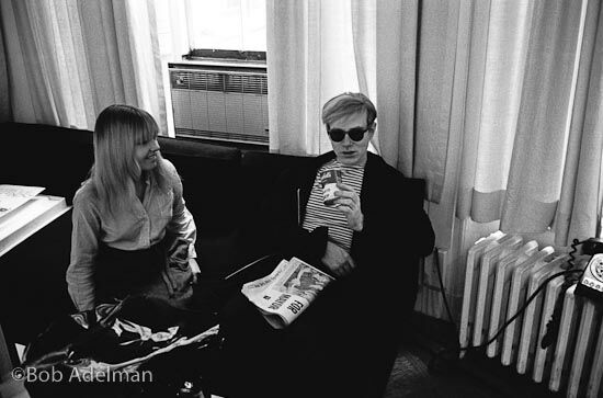 Andy and Bibbe at Leo Castelli Gallery, NYC, 1965.